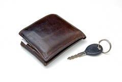 Portefeuille en sleutel Royalty-vrije Stock Afbeeldingen