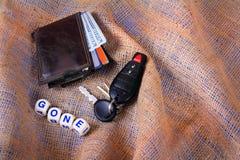 Portefeuille et clés allés Image libre de droits
