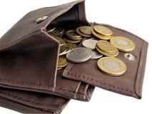 Portefeuille met contant geld Stock Afbeelding