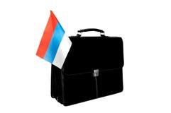 Portefeuille met een vlag Rusland Stock Afbeelding