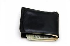 Portefeuille met geld Royalty-vrije Stock Afbeelding