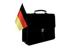 Portefeuille mit einer Markierungsfahne Deutschland Stockfotografie