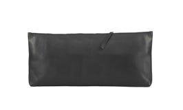 Portefeuille noir de femmes d'isolement Photographie stock libre de droits