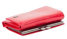 Portefeuille rouge du ` s de femmes Photo stock