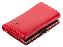 Portefeuille rouge du ` s de femmes Photos stock