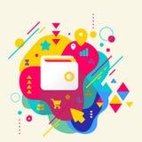 Portefeuille sur le fond repéré coloré abstrait avec l'EL différent illustration de vecteur