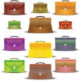 Portefeuilles de différentes couleurs et des tailles Photographie stock libre de droits