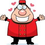 Porteiro Hug dos desenhos animados ilustração do vetor