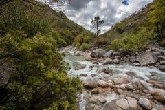 Portela do Homem Waterfall in Peneda Geres Natural Park, Portugal.  stock photography