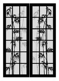 Portelli con bambù Fotografia Stock