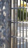 Portelli d'acciaio Locked immagine stock libera da diritti