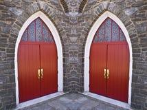 Portelli della chiesa Immagine Stock