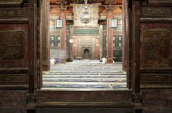 Portelli della moschea antica in Xian Fotografia Stock