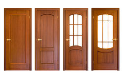 Portelli di legno Immagine Stock