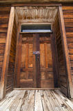 Portelli di legno esposti all'aria fotografia stock libera da diritti