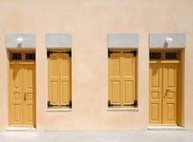 Portelli e finestre Fotografia Stock