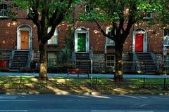 Portelli georgiani a Dublino immagini stock libere da diritti