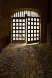 Portelli medioevali del castello Immagini Stock