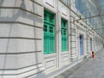Portelli variopinti e passaggio pedonale di Windows Fotografie Stock