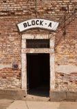Portello al campo di concentramento Fotografie Stock Libere da Diritti