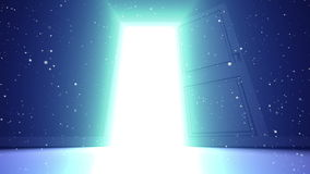 Portello all'indicatore luminoso video d archivio