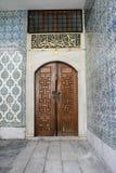 Portello antico al palazzo di Topkapi Immagine Stock