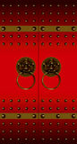 Portello cinese rosso Fotografie Stock Libere da Diritti