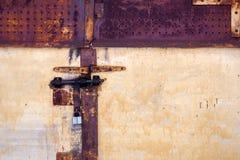 Portello del metallo di Grunge fotografie stock libere da diritti