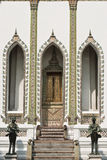Portello del tempiale di Wat Phra Kaew, Bangkok Tailandia Fotografie Stock Libere da Diritti