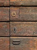 Portello della Camera di legno Fotografia Stock Libera da Diritti