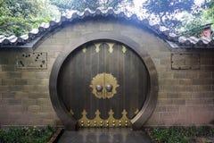 Portello della casa del cinese tradizionale immagine stock