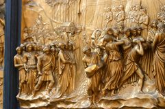 Portello della cattedrale a Firenze fotografia stock