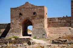 Portello della città di Sagunto (Spagna) Immagine Stock