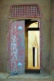 Portello di entrata alla moschea del fango di Djenne Fotografie Stock