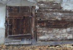 Portello di legno Fotografia Stock