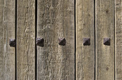 Portello di legno Fotografie Stock