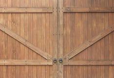 Portello di legno antico Fotografie Stock