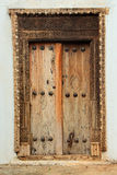 Portello di legno antico Fotografia Stock