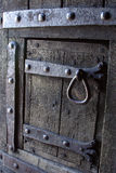 Portello di legno antico Fotografia Stock Libera da Diritti