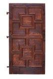 Portello di legno antico con le cerniere Fotografia Stock Libera da Diritti