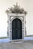Portello di legno antico nel palazzo di Topkapi del harem Fotografie Stock