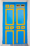 portello di legno blu Immagini Stock Libere da Diritti