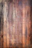 Portello di legno con i chiodi Fotografia Stock