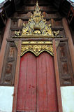 Portello di legno del tempiale Fotografia Stock