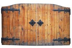 Portello di legno dell'annata Immagini Stock