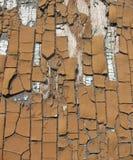 Portello di legno di Broun con vecchia vernice Immagine Stock Libera da Diritti