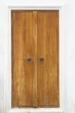 Portello di legno di struttura del Brown Fotografia Stock Libera da Diritti
