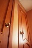 Portello di legno. Interno Fotografia Stock