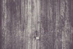 Portello di legno Locked Immagini Stock Libere da Diritti