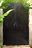 Portello di legno nero. Fotografia Stock Libera da Diritti